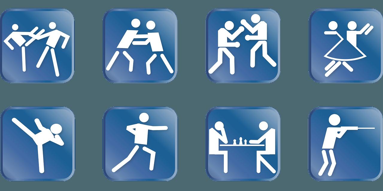 Sportarten Symbole